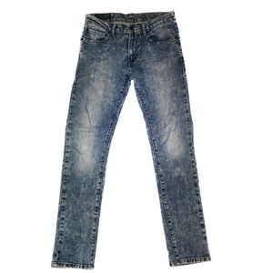 Levi's 510's Acid Wash Super Skinny Mid Rise Jeans